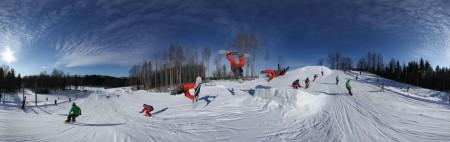 Latvian Snowboarding Championship at Milzkalns