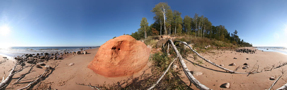 Tuja - Stony Seaside of Vidzeme | 360° panorama