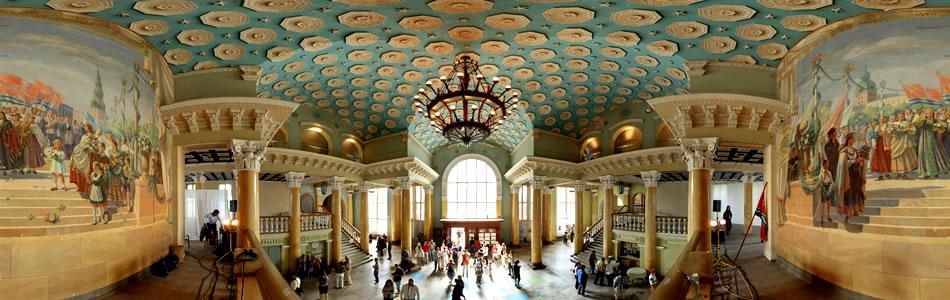 Logs uz pagātni - padomju laika freska Spilves lidostā | 360 grādu panorāma