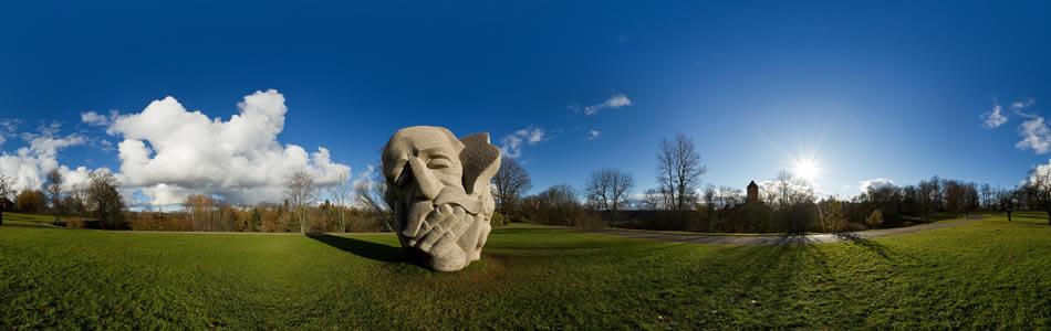 Dainu kalns, Turaida, Latvija | 360° panorāma