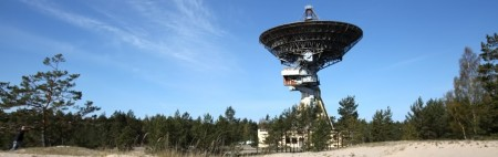 Ex-Soviet radio telescope in Irbene