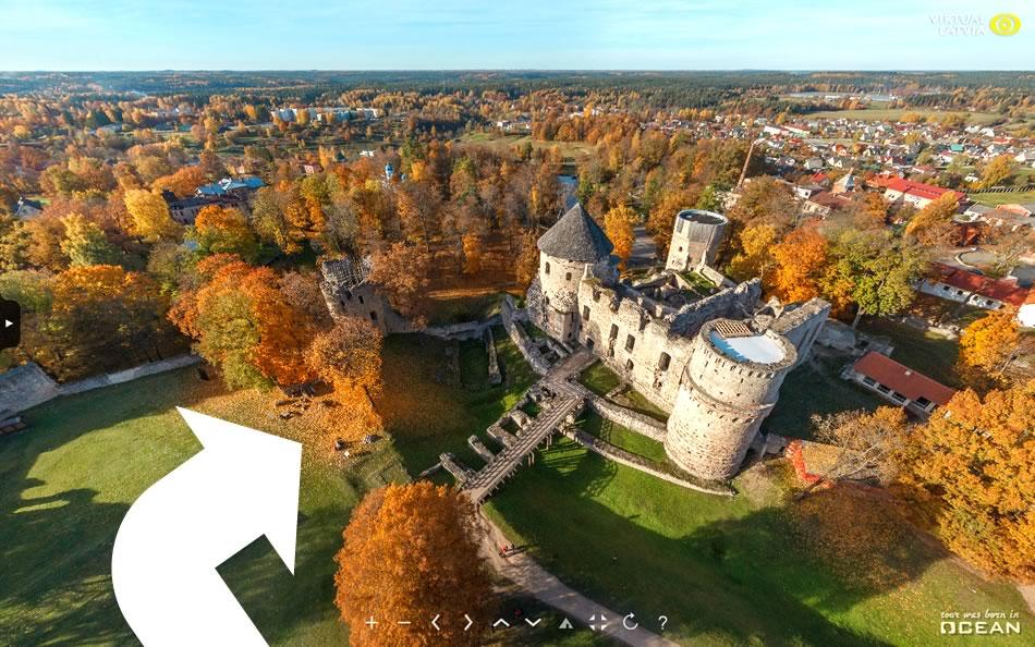 Виртуальный 360° аэро тур по Латвии